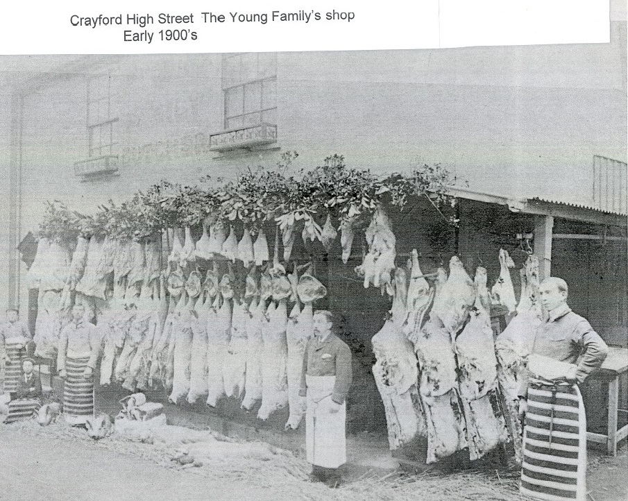 Crayford High Street Young family shop 1900s